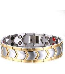 salute dell'acciaio inossidabile migliora il braccialetto d'avanguardia di guarigione del magnete per gli uomini