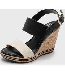 sandalia negro/crudo moleca