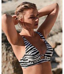 hunkemöller icke-formpressad bikiniöverdel med bygel amalfi vivian hoorn svart