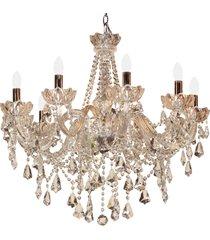 lustre de cristal cepheus para 10 lâmpadas bivolt