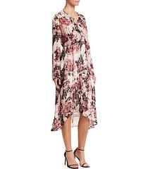 garden ruffle wrap dress