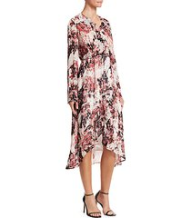 garden ruffle wrap dress
