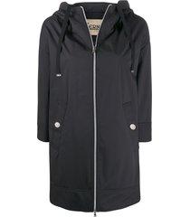 herno rubberised hooded coat - black