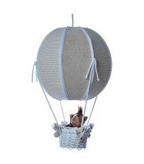 lustre baláo bolinha floresta quarto safári bebê infantil potinho de mel bege