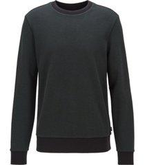 boss men's stadler 31 striped-collar sweatshirt
