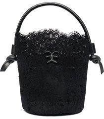 bucket bag in black lace