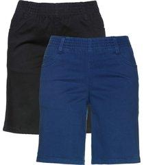 shorts elasticizzati (pacco da 2) (blu) - bpc bonprix collection