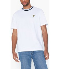 lyle & scott multi rib t-shirt t-shirts & linnen white