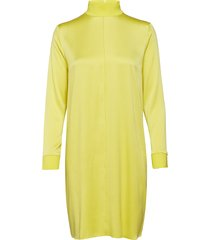 marina washed silk jurk knielengte geel j. lindeberg