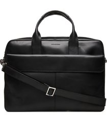 basis laptop bag - cognac computertas tas zwart royal republiq