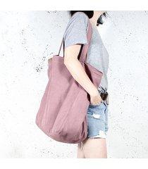 big lazy bag torba różowa na zamek / vegan / eco