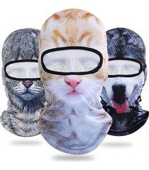 unisex passamontagna da ciclista a 3d gatto tigre caldo respirabile a viso completo maschera con protezione da sole