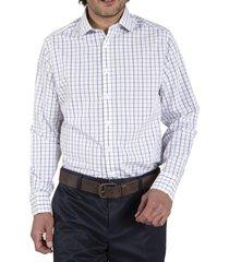camisa algodón libre de arrugas morado rockford