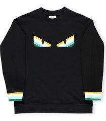 fendi cotton sweatshirt with embroidery