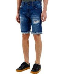 bermuda john john clássica edimburgo 3d jeans azul masculina (jeans medio, 50)