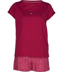shortama set valentine pyjamas rosa tommy hilfiger