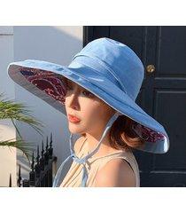 señoras exterior nueva sombra sombrero azul
