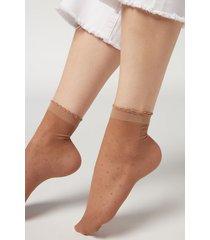 calzedonia classic patterned socks woman nude size tu