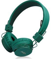 audífonos gamer, nia x2 gaming estéreo hd manos libres original auriculares bluetooth libre plegables deportivos con micrófono de apoyo tf tarjeta de radio fm (verde profundo)
