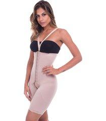 cinta modeladora bermuda cintura alta pã³s cirãºrgica com alã§a alta compressã£o  biobela 1606 - bege - feminino - poliamida - dafiti