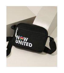 bolsa shoulder bag infantil now united preta