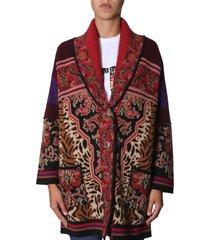 etro jacquard sweater coat