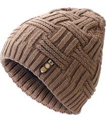 berretto di lana di cotone a righe da uomo berretto di lana invernale per il tempo libero cappello morbido caldo casual per il tempo libero
