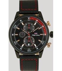 relógio cronógrafo philiphh london masculino - pl80048612m preto