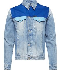 foundation trucker, jeansjack denimjack blauw calvin klein jeans