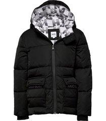 puffer jacket gevoerd jack zwart boss