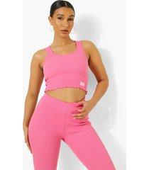 ofcl geribbeld premium lounge hemd, pink
