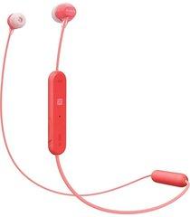 audifonos sony wic300 internos inalambricos rojo