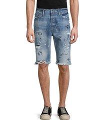 arcadia frayed paint splatter denim shorts