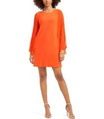 msk pleated-sleeve dress