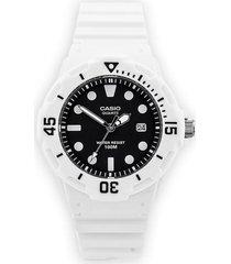 reloj análogo blanco casio