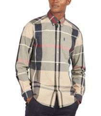 barbour men's tailored-fit tartan poplin shirt