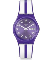 reloj swatch unisex nuora gelso - morado