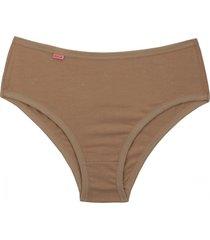 calã§a alta  conforto cotton chocolate - marrom - feminino - dafiti