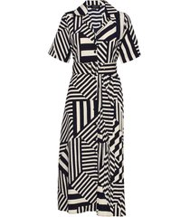 slfaleena-oriana 2/4 aop ankle dress b jurk knielengte blauw selected femme