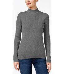 karen scott cotton mock-neck sweater, created for macy's