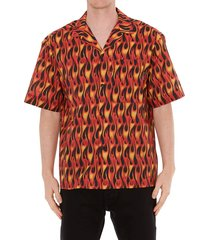 palm angels burning bowling shirt