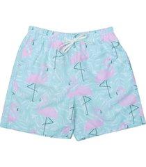 short uzu flamingo azul/rosa