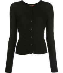 altuzarra ruched detail cardigan - black