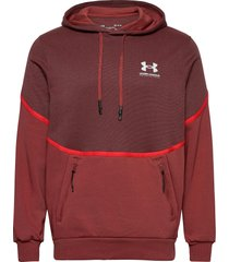 ua rival fleece amp hd hoodie trui rood under armour
