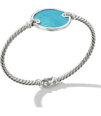 david yurman elements bracelet with pave diamonds, size small in turquoise /silver at nordstrom