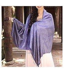 silk shawl, 'bold lily' (thailand)