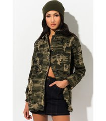 akira sergeant of class camo distressed jacket