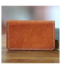 leather wallet, 'aren sugar brown' (indonesia)