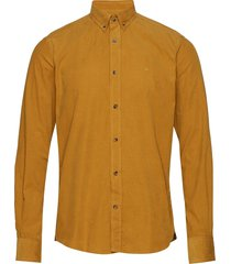 garth button down shirt skjorta casual gul morris