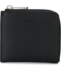 mulberry zip-up leather wallet - black